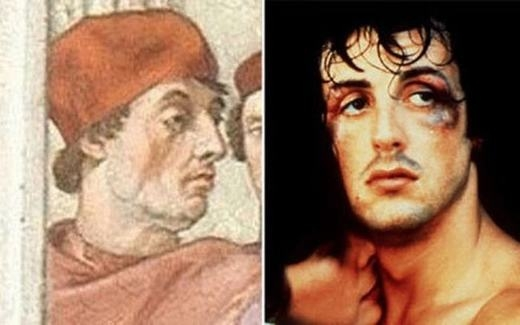 Hay diễn viên Sylvester Stallone rất giống với hình vẽ một tín đồ Công giáo Vatican
