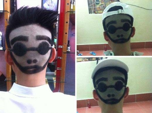Kiểu đầu mới của chàng thanh niên được cư dân mạng đặt tên cho là anh chàng hai mặt.