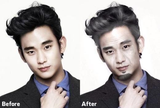 Các fans từng than phiền về độ trẻ trung đến hư cấu của một Cụ giáo 400 tuổi chắc sẽ rất thỏa mãn với hình ảnh Kim Soo Hyun già nua với chỏm râu như thế này?