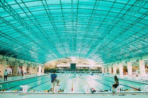 Hồ bơi ĐH Thể Dục Thể Thao TP.HCM – nơi Ánh Viên tập luyện trước khi tiếp tục lên đường sang Mỹ tập huấn.