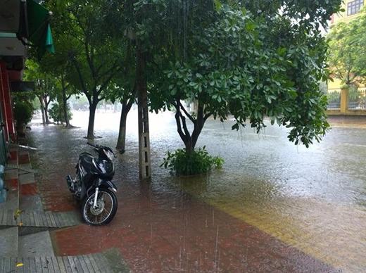 Hình ảnh ngập trên các tuyến đường ở Thái Bình