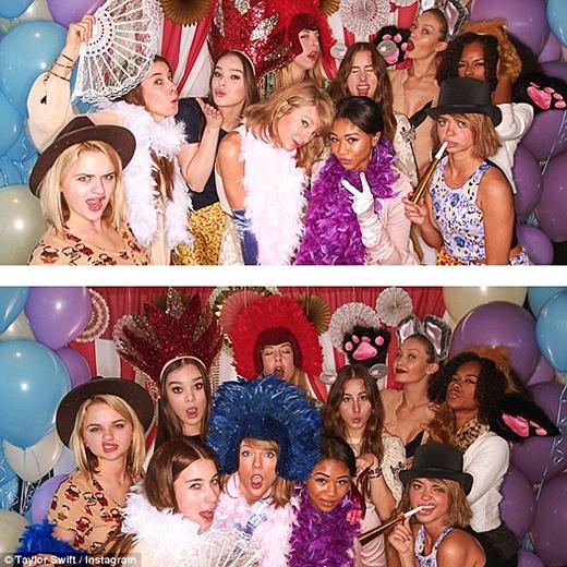 Những cuộc vui với những người bạn gái của Taylorluôn là điều không thể thiếu.