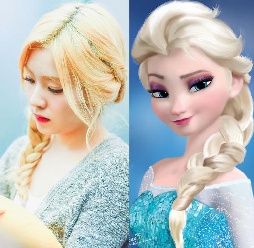Không chỉ sắm cả mái tóc vàng óng, chị cả Red Velvet, Irene, còn chịu chơi nhuộm luôn cả đôi chân mày. Vẻ ngoài của cô nàng trông không khác công chúa Elsa là mấy.