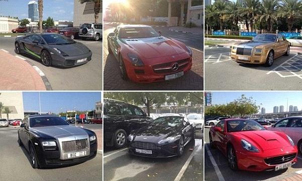 Bãi giữ xe của trường có đầy đủ tất cả những chiếc xe hơi đắt nhất trên thế giới.