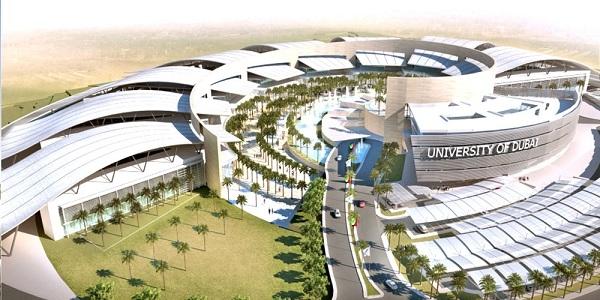 Đại học Dubai nhìn từ trên cao.