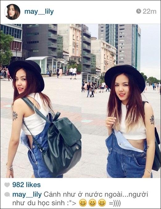 Phương Ly khoe bức ảnh chụp tại con phố đi bộ Nguyễn Huệ - Sài Gòn. Cô bạncòn hài hước chia sẻ rằng trông cô giống như du học sinh. Hiện nay, Phương Ly đang tham gia với vai trò diễn viên trong bộ phim Yêu sắp được trình chiếu trong thời gian tới. Những người hâm mộ Phương Ly rất mong chờ bộ phim do cô đảm nhiệm vai diễn lần này.