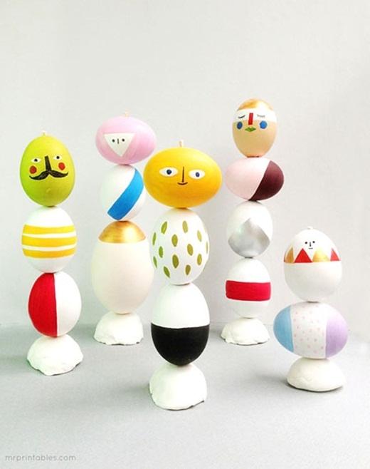 Một cách kết hợp nhiều vỏ trứng.