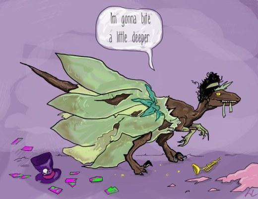 """Công chúa Tiana khi biến thành Raptor thì đã """"xơi"""" mất chàng hoàng tử ếch của mình."""