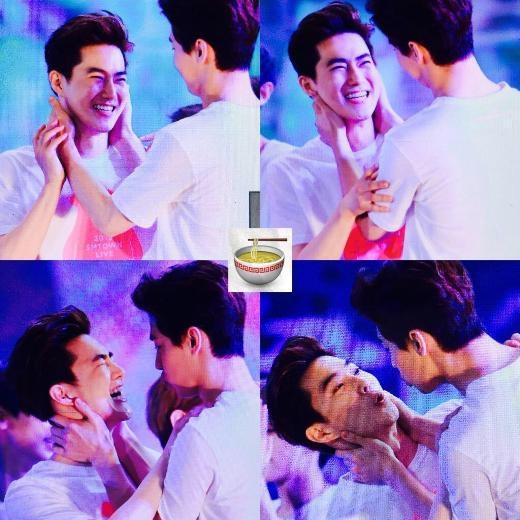 Là người thích thể hiện tình cảm bằng những nụ hôn, Henry (Super Junior M) bị Suho (EXO) thẳng thừng từ chối sau nhiều lần cố gắng chạm môi đàn em.