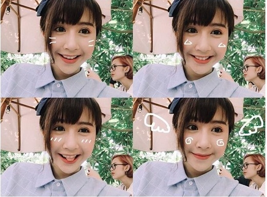 Không biết Trang Cherry có biết đang bị cô bạn Quỳnh Anh Shyn trêu trọc trong bức hình không. Hiện nay, cặp đôi hot girl này vẫn đang tiếp tục đảm nhiệm vai diễn trong loạt phim sitcom 5S online được nhiều bạn trẻ quan tâm và yêu thích.
