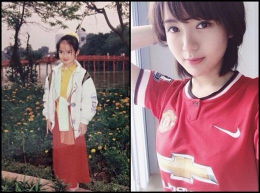 Chắc ít ai nhận ra cô bé trong hình chính là cô hot girl Tú Linh nổi tiếng trên mạng xã hội. Tú Linh chia sẻ rằng từ nhỏ mình đã đi biểu diễn văn nghệ cho trường lớp. Trông Tú Linh khi 8 tuổi đã sở hữu những nét dễ thương và xinh xắn.