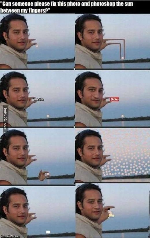 Làm sao để cầm được mặt trời?