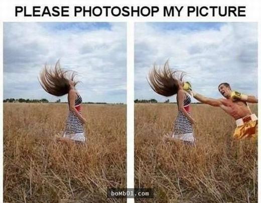 Hãy làm điều gì đó cho bức ảnh hợp lý hơn.