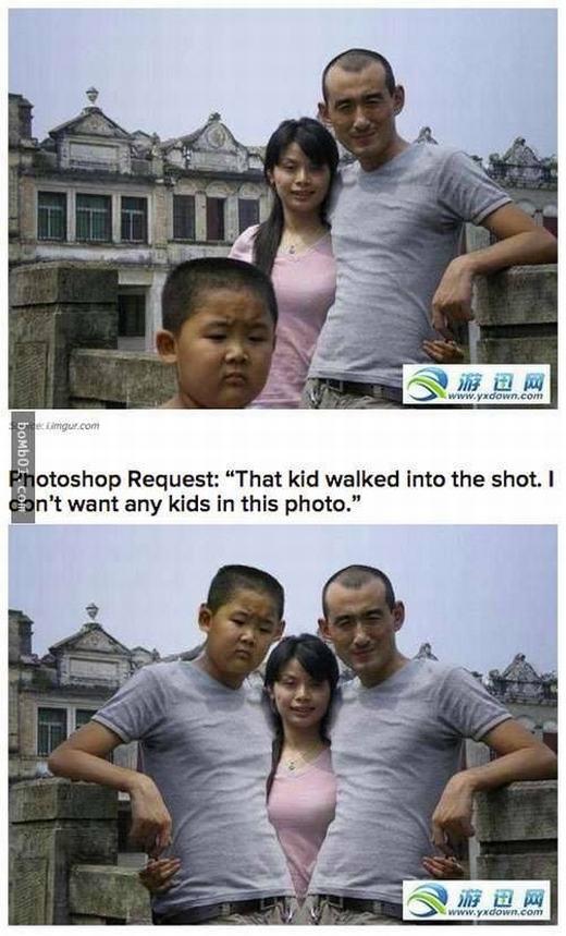 Hãy cho cậu bé trong bức hình hiển thị hợp lí hơn!