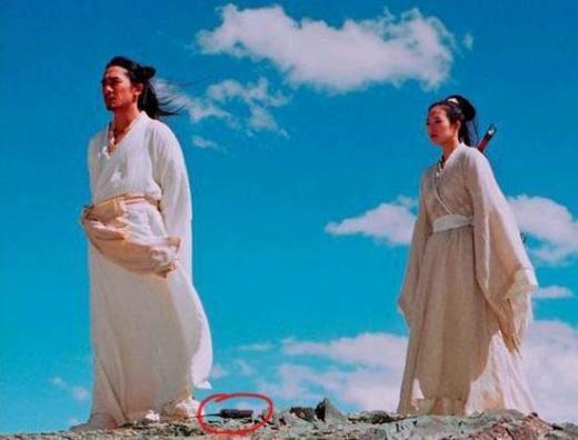 Một hình ảnh trong phim cổ trang do Chương Tử Di đóng vai chính, có thể nhận ra bộ đàm đã xuất hiện thời cổ xưa.
