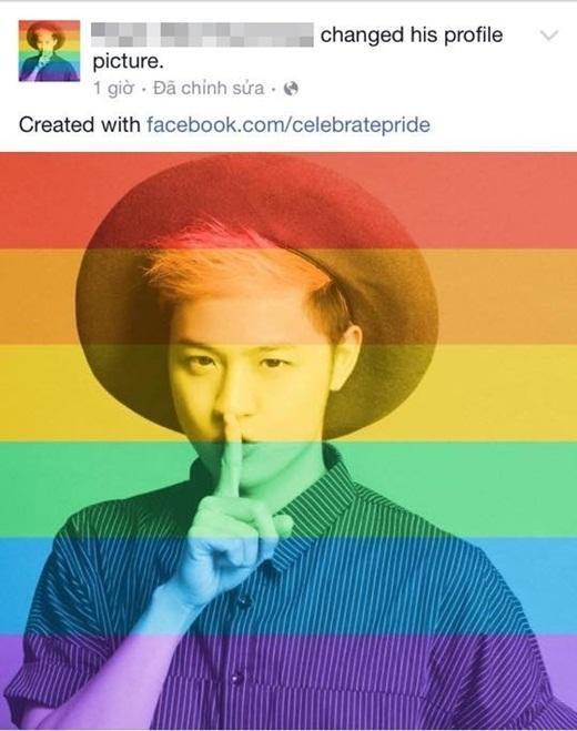 Ca sĩ Thanh Duy và stylist Kelbin cũng đồng hóa hình ảnh cá nhân để chúc mừng cộng đồng LGBT.