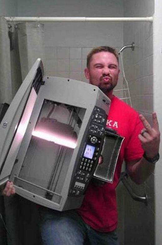 ...hay bê nguyên chiếc máy scan để tự sướng.