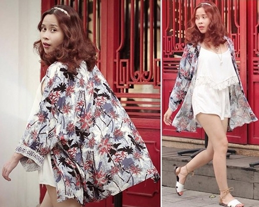 Lưu Hương Giang cũng bắt kịp xu hướng này. Cô diện cả bộ trang phục theo mốt váy ngủ gợi cảm, trẻ trung nhưng không kém phần thanh lịch.