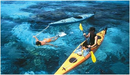 Chèo thuyền ca-dắc tại Belize