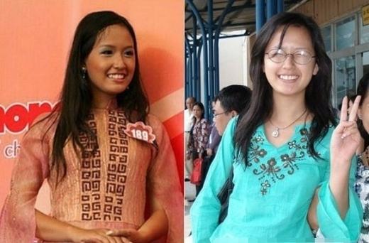 Thời còn học cấp 3, trước khi thi Hoa hậu Việt Nam thì Mai Phương Thúy chỉ sở hữu chiều cao khủng mà thôi, còn những đường nét trên gương mặt đều bình thường, không có gì nổi bật. - Tin sao Viet - Tin tuc sao Viet - Scandal sao Viet - Tin tuc cua Sao - Tin cua Sao