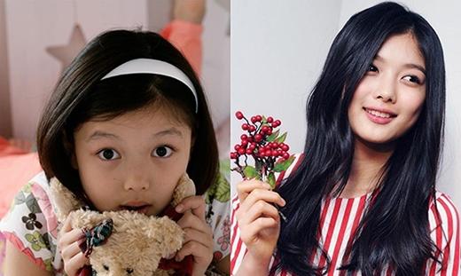 Bên cạnh Kim So Hyun, Kim Yoo Jung cũng là một cái tên đáng chú ý trong danh sách này. Cô bé bắt đầu sự nghiệp khi lên 5 tuổi và sau đó tiếp tục khán giả qua rất nhiều vai diễn lớn nhỏ bao gồm truyền hình lẫn điện ảnh. Sở hữu một gương mặt bụ bẫm đáng yêu từ thuở bé, Kim Yoo Jung khiến các bậc phụ huynh thèm muốn có một đứa con như thế. Đến khi lớn lên Kim Yoo Jung vẫn giữ được nét đẹp vốn có mà lại còn dịu dàng và quyến rũ hơn.