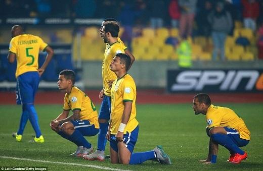 Brazil gây sốc khi bị loại ngay từ vòng tứ kết Copa America