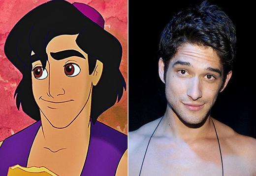 Tyler Posey là phiên bản ngoài đời thật hoàn hảo của Aladin, từ vẻ ngoài đến tính cách và biểu hiện trên gương mặt của anh đều giống với anh chàng nghịch ngợm trong bộ phim Aladdin và cây đèn thần.