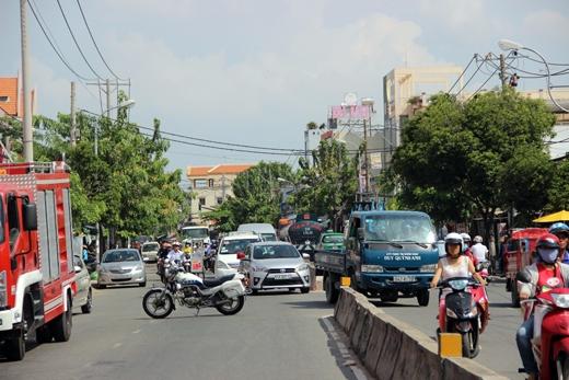 Tuyến đường qua khu vực bị phong tỏa