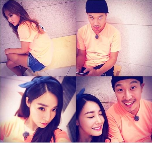 Tiffany hào hứng chờ đợi ngày phát sóngRunning Man và khoe cô nàng ở đội cam cùng Haha và Yuri.