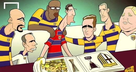 Parma, đội bóng cũ của những cựu danh thủ như Buffon, Cannavaro, Veron, Thuram và Crespo, mới phá sản và bị đẩy từ Serie A xuống hạng nghiệp dư.