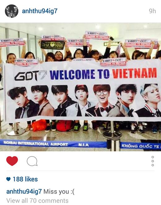 Hoàng tử Thái của GOT7 bất ngờ nhớ Việt Nam