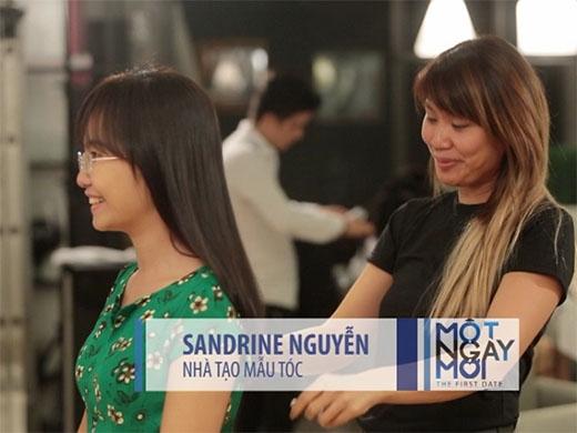 Tiếp đó là sự tư vấn chuyên nghiệp đến từ nhà tạo mẫu tóc Sandrine Nguyễn.