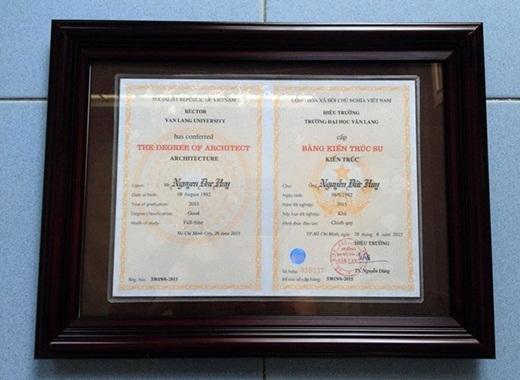 Sau 5 năm học tập, Huy đạt điểm trung bình 7,11 và nhận bằng tốt nghiệp xét loại Khá.