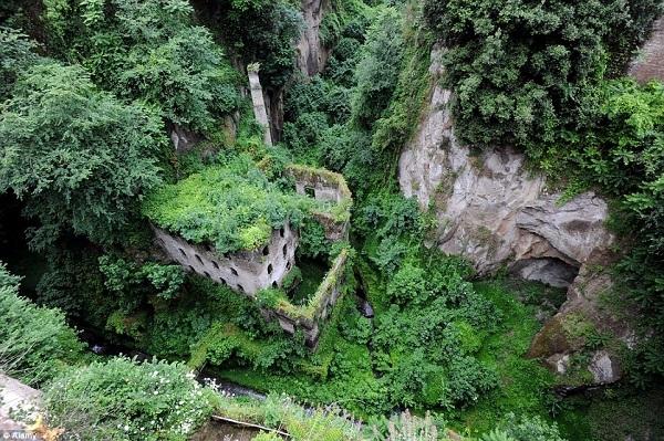 """The Valley of the Mills là một nhà máy sản xuất bột ở Sorrento, Ý dần dần bị bỏ rơi trong những năm qua. Môi trường ẩm ướt đã tạo ra một vùng tiểu khí hậu, điều kiện tốt dương xỉ phát triển mạnh mẽ. Loại cây này bao một lớp dày và tươi tốt quanh khu tàn tích. Khách du lịch có thể ghé thăm những """"kỳ quan"""" xanh qua dốc đá xuống thung lũng, hoặc ngắm nhìn từ trên cao."""