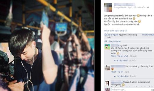 """""""Mất hồn"""" với trai đẹp trên xe buýt khiến dân mạng phải """"săn lùng"""""""