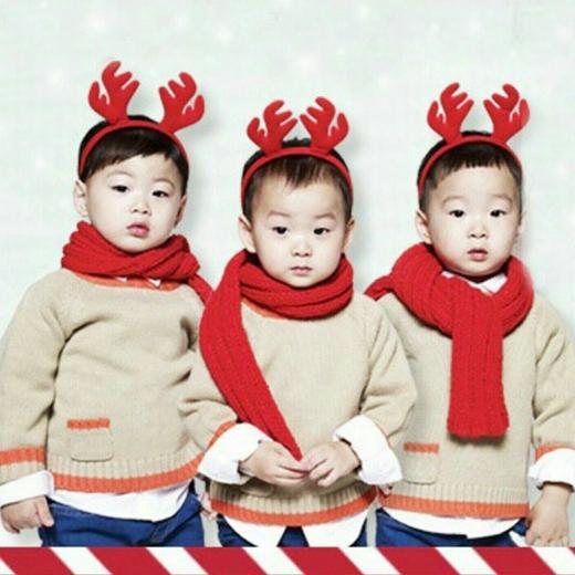 Ba chú tuần lộc siêu dễ thương của ông già Song Il Gook.