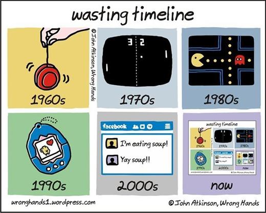 Cách giết thời gian trong quá khứ với hiện tại cũng hoàn toàn khác xa nhau. Mọi người dần bị lệ thuộc quá nhiều vào mạng Internet.