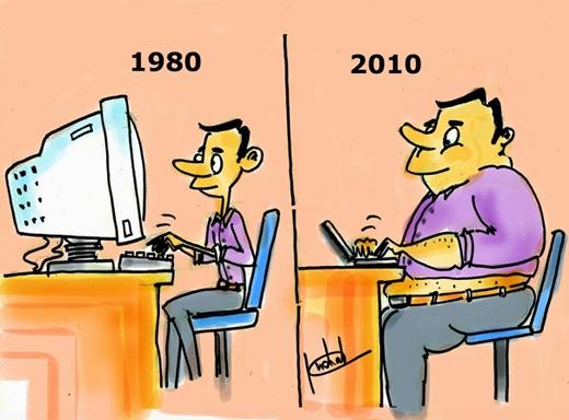 Chiếc máy tính ngày càng gọn nhỏ hơn, nhưng con người thì ngược lại.