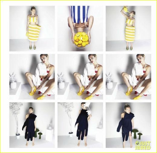 Những hình ảnh mới của Miley trong tạp chí V.