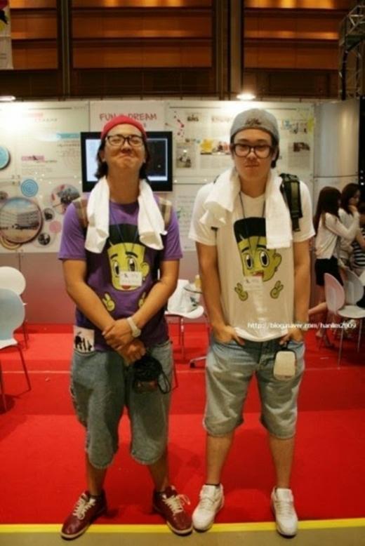 Mino (Winner) và PO (Block B) là đôi bạn thân. Hình chụp vào năm 2009.