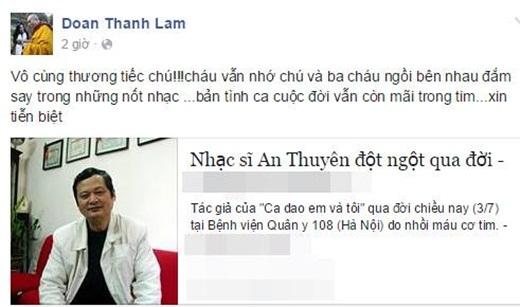 Thanh Lam tiếc thương trước sự ra đi của nhạc sĩ An Thuyên. - Tin sao Viet - Tin tuc sao Viet - Scandal sao Viet - Tin tuc cua Sao - Tin cua Sao