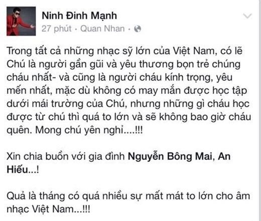 Ca sĩ Đinh Mạnh Ninh… - Tin sao Viet - Tin tuc sao Viet - Scandal sao Viet - Tin tuc cua Sao - Tin cua Sao