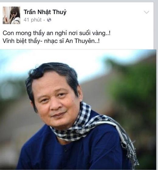 Nhật Thủy xúc động gửi lời vĩnh biệt tới người thầy của mình. - Tin sao Viet - Tin tuc sao Viet - Scandal sao Viet - Tin tuc cua Sao - Tin cua Sao
