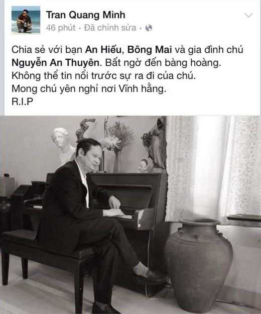 MC Trần Quang Minh mong nhạc sĩ An Thuyên sẽ yên nghỉ nơi vĩnh hằng. - Tin sao Viet - Tin tuc sao Viet - Scandal sao Viet - Tin tuc cua Sao - Tin cua Sao
