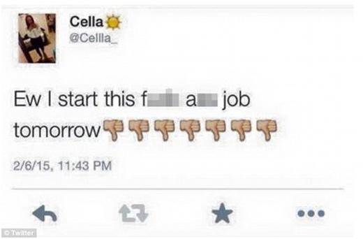 """Một cô nàng than vãn trên mạng về công việc mới của mình, và ngay lập tức nhận được phản hồi từ chính... ông chủ. Nàng nói: """"Eo ơi thế là ngày mai mình phải bắt đầu cái công việc chết tiệt!""""."""