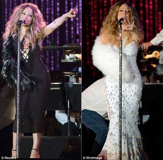 Mariah Carey chứng tỏ đẳng cấp diva của mình khi vẫn xuất hiện lộng lẫy tại buổi hòa nhạc từ thiện quyên tiền cho những nạn nhân của cơn bão Sandy được tổ chức ở New York mặc dù đang bị thương. Nữ ca sĩ cũng đã trình diễn hết mình với khán giả tại đó.
