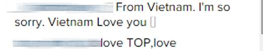 Các V-VIP thi nhau bình luận trên trang cá nhân của T.O.P.