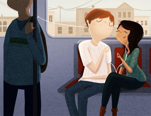 Rồi cùng em bắt chuyến tàu điện ngầm đi làm và thưởng thức những bài hát mà cả hai yêu thích.