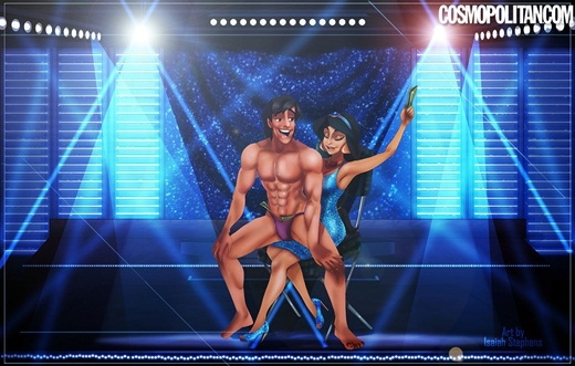 Chưa ai nghĩ công chúa Jasmine và Aladin cũng có thể quyến rũ đến vậy.