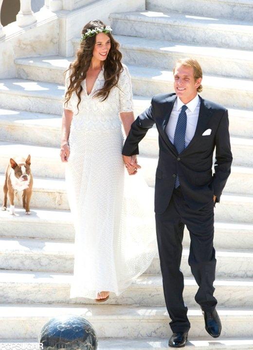 Hoàng tử cùng người yêu trong đám cưới vào năm 2013.
